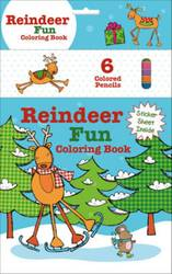Reindeer Fun Coloring Book (with 6 colour pencils) product image