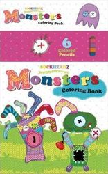 Sockheadz Monsters Colouring Book with 6 Full Size Pencils product image